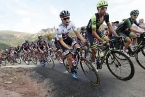4 September 2015 70th Vuelta a Espana Stage 13 : Calatayud - Tarazona DUMOULIN Tom (NED) Giant - Alpecin, Leader of the Combination Classification, at aAlto de Beraton Photo : Yuzuru SUNADA